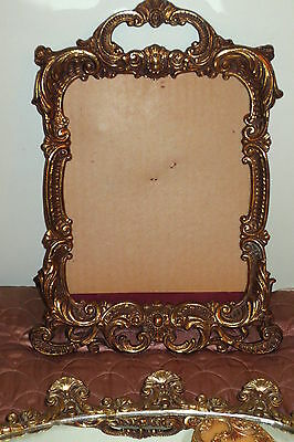 Antique picture frame French Ormolu-Heavy Bronze,Ornate Rococo Style