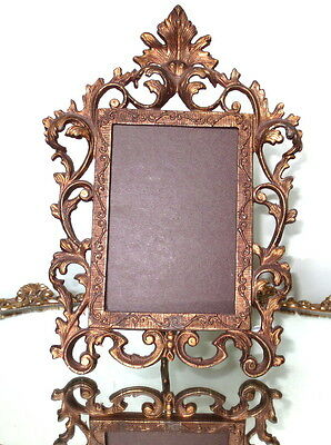 Antique Gilt Bronze/Brass with easel selfstanding table picture frame