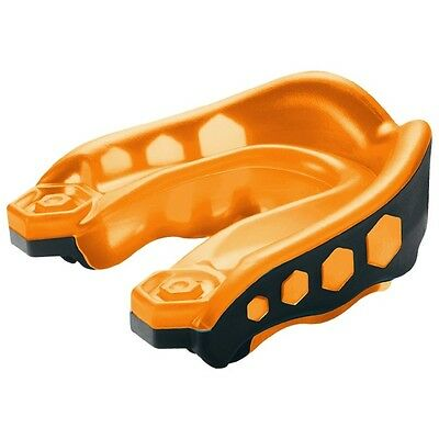 Shock Doctor v2 Gel Max Mouth Guard Mouthguard Gum Shield Orange Black