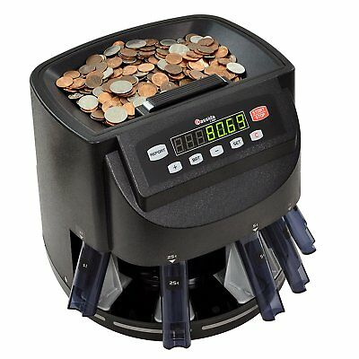 Money Coin Counter Sorter Machine Commercial Change Wrapper Electronic Digital