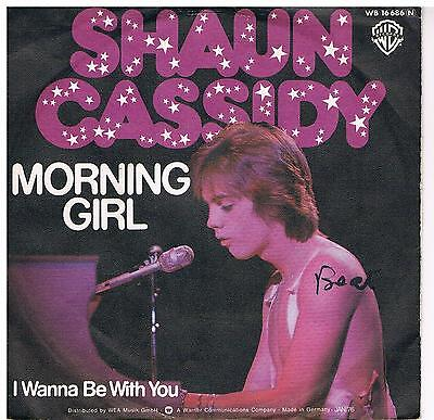 """Shaun Cassidy-Morning girl/I wanna be with you/7"""" Single von 1976"""
