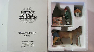 Dept 56 - Dickens Lot 4: Blacksmith - Lamplighter - Town Crier - Bradford
