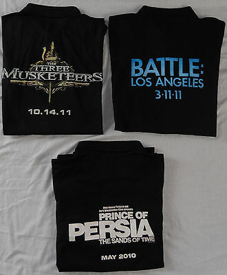 Cinemark Polo Shirts 3XL Movie Promo Prince of Persia Battle LA Three Musketeers