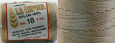 Omega Nylon Crochet Thread Size 18 - Tan Color #44 - Nylon Thread