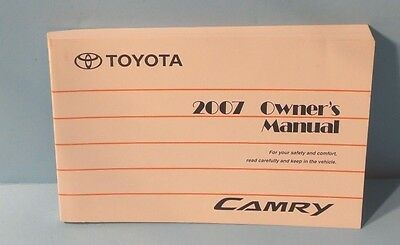 07 2007 Toyota Camry owners manual