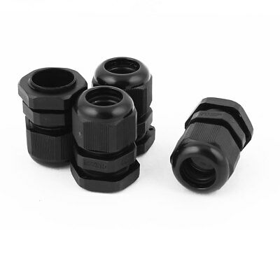 "4 Pcs M22 1/2"" NPT Strain Relief Cord Grip Cable Gland Locknut M22x1.5"