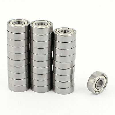30 Pcs 5mmx16mmx5.5mm Metal Sealed Shielded Deep Groove Mini Ball Bearing