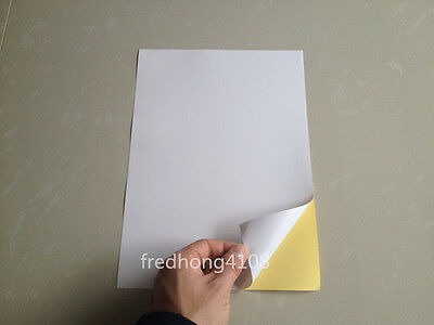 A4 Glossy Printable Self Adhesive Sticker Label Paper Printer Paper Sheet white