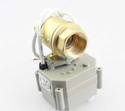 "Brass 1/2"" to 1-1/4"" 12V/24VDC Motorized Ball Valve,Position FeedBack Zone Valve"