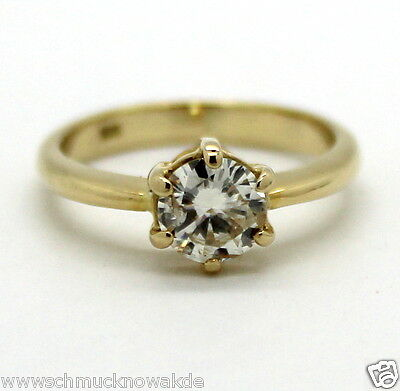 WERT 2900 €  Solitär Brillant Ring, Verlobungsring  0,95ct in 585er Gelbgold*
