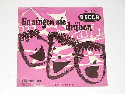 "The Johnston Brothers - 7"" EP - So singen die drüben - Decca DX 1920 - ULTRA RAR"