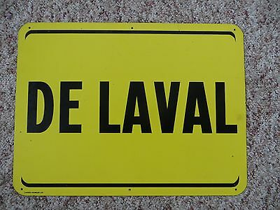 Old 1969 DeLaval cream separator advertising sign, dairy, farm, agriculture