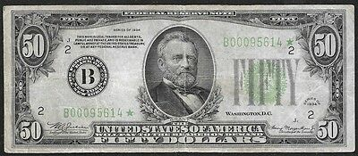 1934 $50 FRN New York NY ****** STAR ****** Low Serial Number