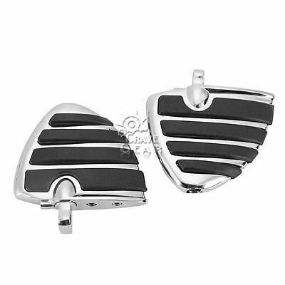 Kuryakyn 4450 Chrome ISO-Wing Foot Pegs Mini Boards Fit Harley Softail Touring