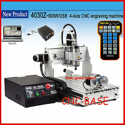 USB four 4 axis 3040 800W cnc router engraver engraving milling machine  handle