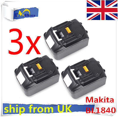 3 X NEW 18V 4.0Ah LITHIUM ION BATTERY LXT BL1830 FOR MAKITA LATEST PACK UK