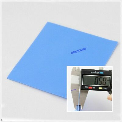 100mm x 100mm x 0.5mm GPU CPU Heatsink Cooling Thermal Conductive Silicone Pad
