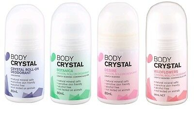 The Body Crystal Crystal Roll On Deodorant 80g - Choose from Four Multi Quantity