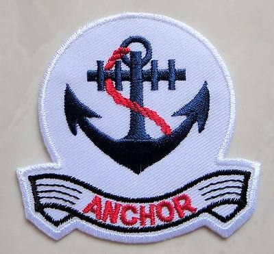Beautiful Blue Anchor Logo Embroidered Iron on Patch Free Shipping