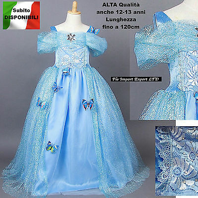 Cenerentola Vestito Carnevale Dress up Princess Cinderella Costumes 567006DIR