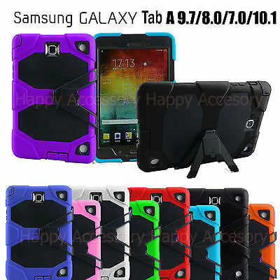 Heavy Duty Case Tough Cover for Samsung Galaxy Tab A 9.7 or 8.0, 7.0, 10.1