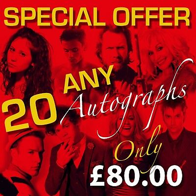 SPECIAL OFFER ANY 20 Autographs ONLY £73.00 Prints (Framed & CDs Not Included)