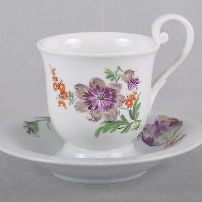 Meissen Flowers Painting Biedermeier Collection Cup / Cup, First Quality, TOP