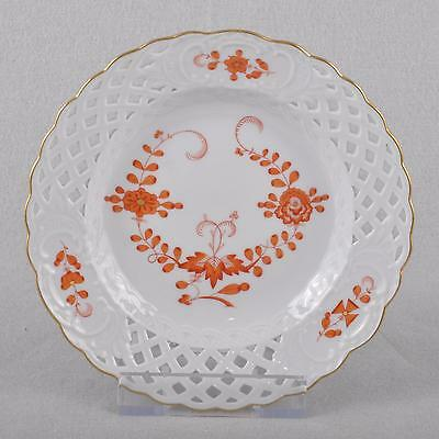 Meissen Indian Painting coral red, Breakthrough Plate / plate, First Quality