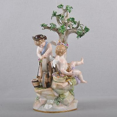 Meissen Figur Putto the Grinding stone,Amor Dragging love arrows First Quality
