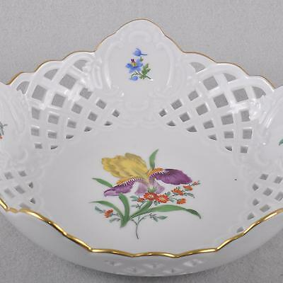 Meissen Blume 2 - Sword lily / Iris, Breakthrough shell Fruit basket, 18,5 cm