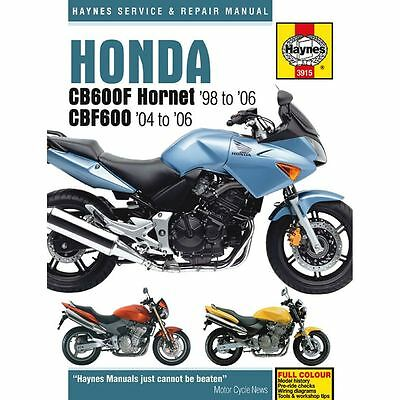 Workshop Manual Honda CB600F, FS Hornet 98-06, CBF600N, NA, S, SA 04-06