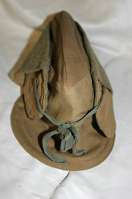 WW1 US Military Issue WINTER COLD WEATHER WOOL LINED HAT Office Hat