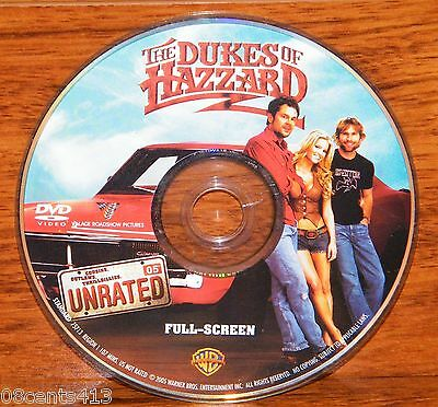 The Dukes of Hazzard (Unrated Fullscreen DVD) Jessica Simpson **Disc Only**