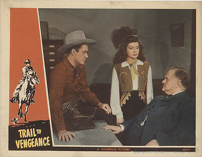 Trail to Vengeance 1945 Original Movie Poster Action Comedy Western