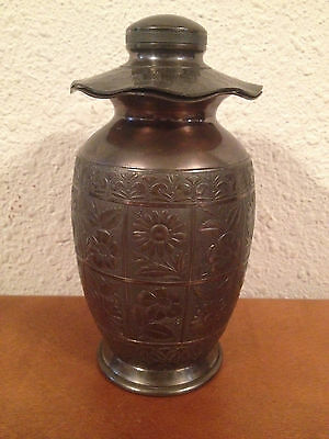 Antique Hartford Silverplate Co. Asian Influenced Lantern Form Urn w Floral Dec.