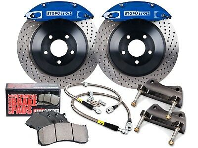 Stoptech Touring Bbk Big Brake Kit (Front/blue/4 Pistons/drilled/355Mm Rotors)