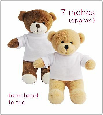 10 Printable Teddy Bears With Blank T-Shirt Sublimation Transfer Bulk Wholesale