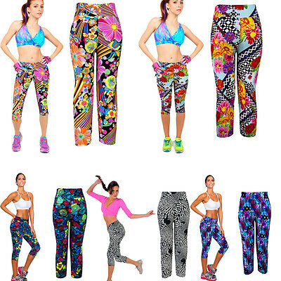 Women High Waist Pants Yoga Pants Fitness Trousers Ladies Cropped Stretch Pants