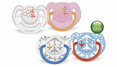AVENT Fashion Orthodontic Silicone Soothers BPA Free