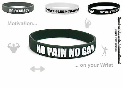 Fitness Rubber Silicone Wristband Bracelet Sport Weightlifting Fashion Unisex!!!