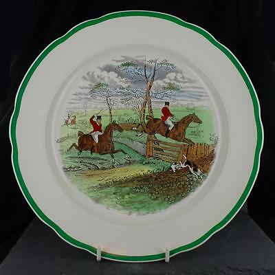 Good COPELAND SPODE pottery HUNTING scene 'OFF TO DRAW' pattern PLATE 1939