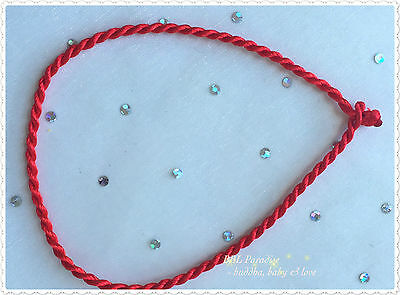 2 X 23.5cm Lucky Chinese Red Rope String Wrap Bracelet or Anklet with 3mm width