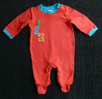 Baby clothes BOY GIRL 9-12m red 123 BABY brand babygrow 2nd item post-free!