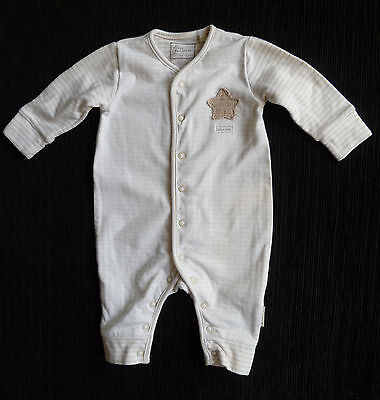 Baby clothes BOY GIRL 3-6m NEXT beige/white spot babygrow 2nd item post-free!