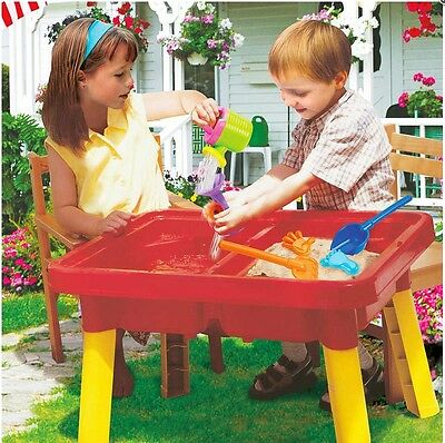 New Sun and Fun Sand & Water Garden with Moulds(Can,Bucket,Tray,Rake,Spade)