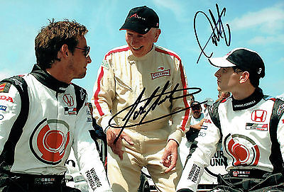 John SURTEES & Anthony DAVIDSON SIGNED F1 12x8 Photo AFTAL Autograph COA