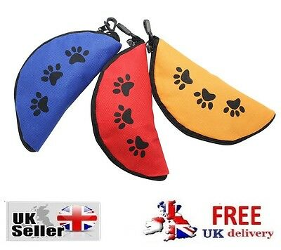 Fabric Folding Pet Bowl Fold Up Collapsible Food Water Travel Dog Drinking Cat