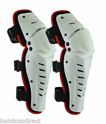 MX Motorcycle Motocross Hinged Knee Shin Pads Guard Protective Gear Body Armour