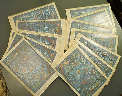 Lot Of 12 United Nations 1967 Marc Chagall Window Souvenir Miniature Sheets