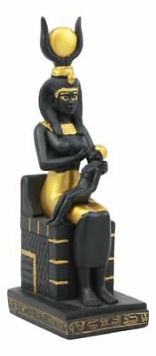 "New Ancient Egyptian Decor Throne Sitting Goddess Isis Figurine Statue 7.5""h"